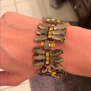 JCREW Gray and yellow bracelet